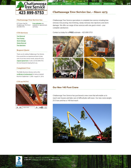 Chattanooga Tree Service Design